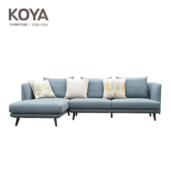 Home Furniture Chesterfield Fabric Sofa / Modern Upholstery Fabric Chaise  Long Sofa