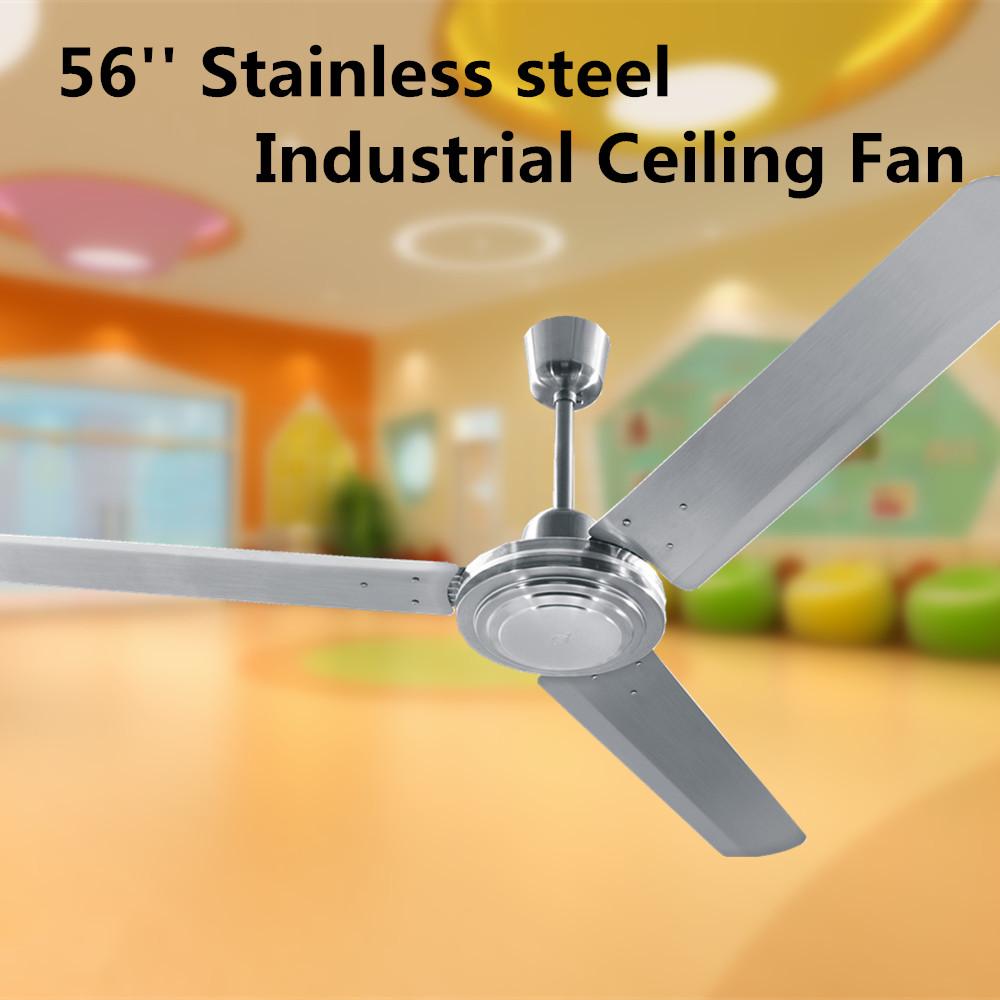 Qijun de metal de acero inoxidable ventilador de techo - Ventilador bajo consumo ...