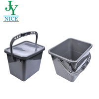 20 liter Car Washing Bucket plastic 30L household clear kitchen collection water pail with lid Outdoor Travel storage bucket