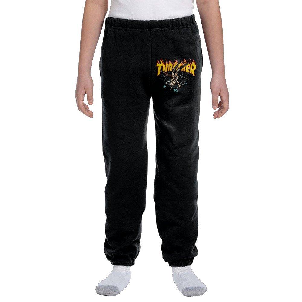 70cb8891f7cd Kid s Youth Thrasher Flame Magazine Logo Cotton Sweatpants Boys And Girls  Pants