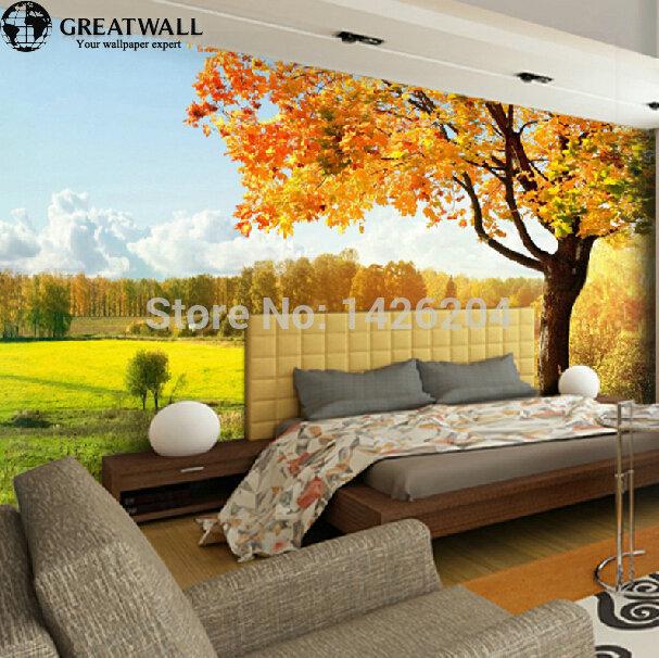 gro e wand moderne 3d landschaft foto tapeten wandbilder. Black Bedroom Furniture Sets. Home Design Ideas