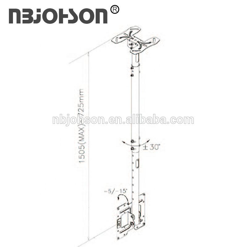 VESA 200x200 verstelbare hoogte gemotoriseerde tv lift mechanisme