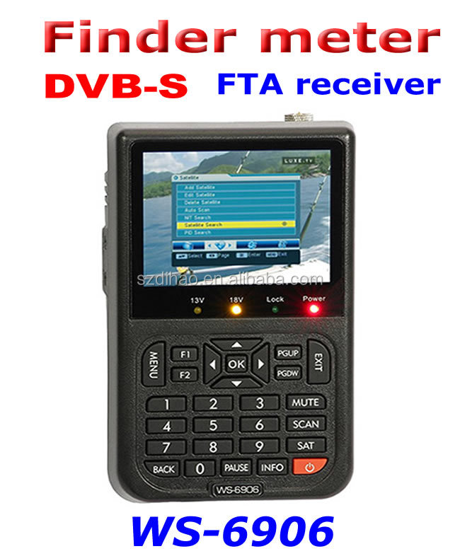 DIHAO Tech original DVB-S satlink ws-6906 3.5 digital satellite finder meter ws 6906 satellite finder