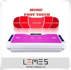 2015 power body massage machine / vibration plate with mp3 music and foot touch