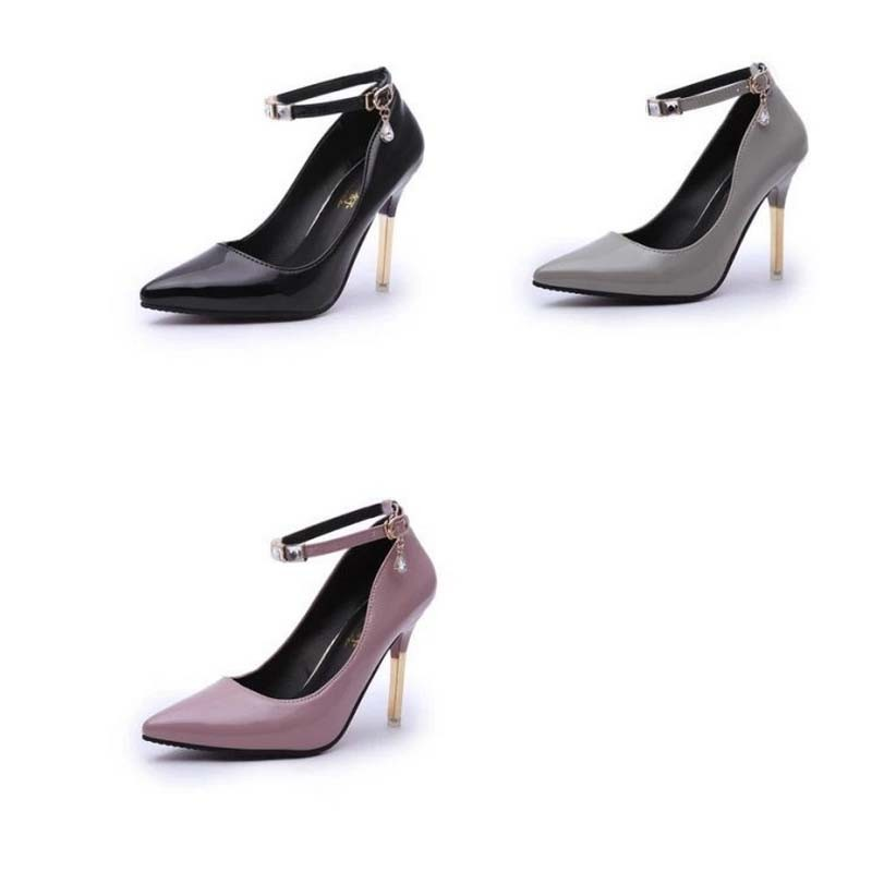 SAA4126 The new 2015 trend pointed head buckle fashion women high heel shoes