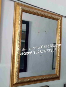 Whole Wall Hanging Plastic Gold Framed Mirror 40x60