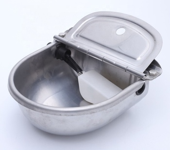 customized stainless steel galvanized steel animal drinking water bowl for cattle