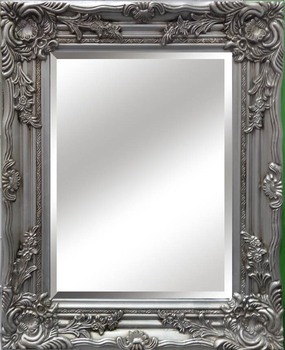 Silver Antique Painting Mirror Wooden Frame Home Decor