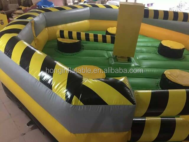 CE Approved Toxic Meltdown Inflatable Interactive Game Inflatable Wipe Oout Course For Sale