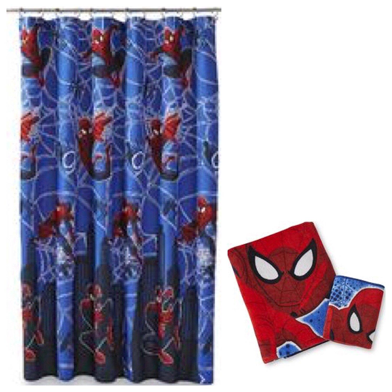 Buy Marvel Spider-Man 15 Piece Bath Gift Set: Dry-Erase Reminder ...