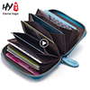 Fashion style cheap coin holder genuine cow leather wallet