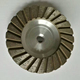 4 Inch 100 mm Welded Type Sintered Type Concrete Stone Diamond Turbo Grinding Cup Wheels for Concrete