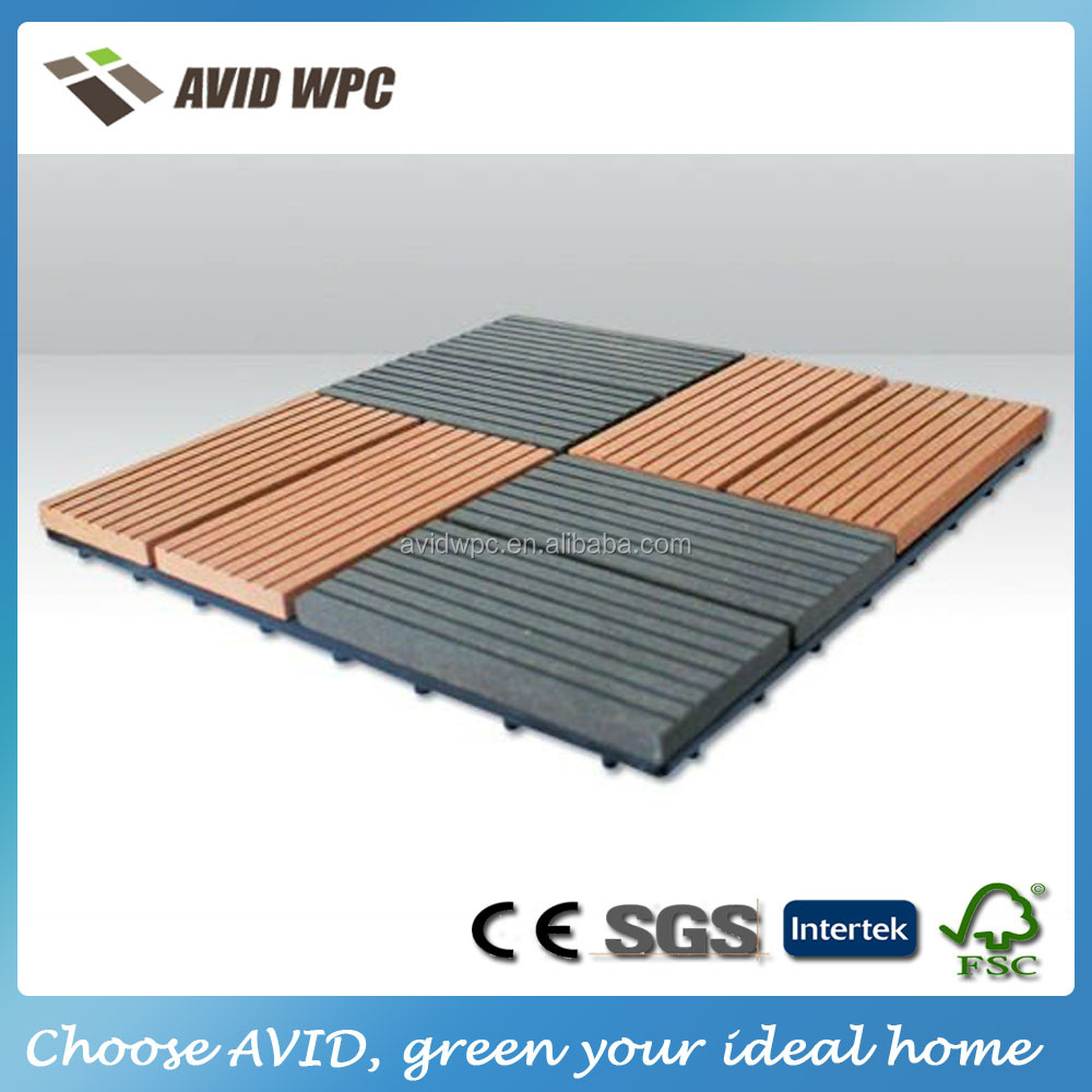 Prefab house waterproof and 100% eco-friendly wpc outdoor diy decking