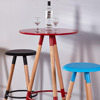 Cheap popular used round high bar stool wood table
