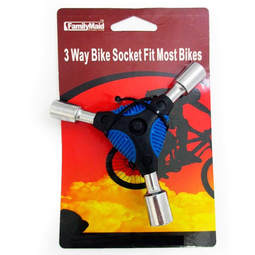 Bicycle Bike 3Way Y Handle Hex Socket Wrench Trigeminal Repair Tool 8mm 9mm 10mm
