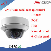 Hikvision 2MP various focal ip dome camera outdoor pictures vandal proof poe camera with 30m ir distance DS-2CD2720F-I(S)