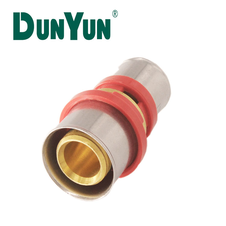 Brass Press Tee Fitting stainless steel sleeve PEX Pipe press fitting