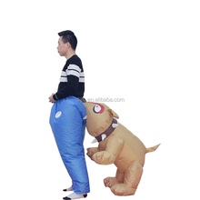 New design dog beat wearing blue trousers man butt inflatable dance party costume