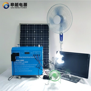 50W Poly Solar Cell Panels System Kit for 300W AC 220V 230V 240V Output for Home Use Power System