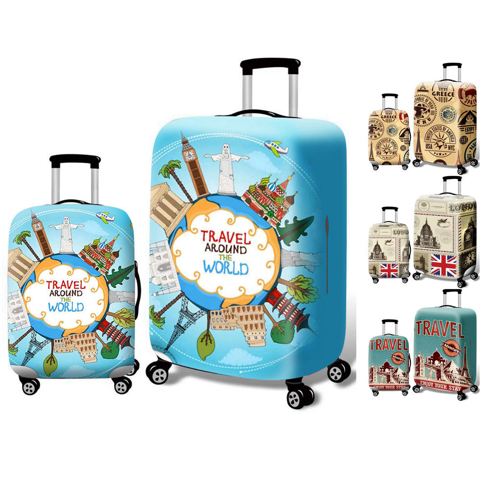 GIOVANIOR Birds Flowers Luggage Cover Suitcase Protector Carry On Covers