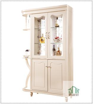 Living Room Cabinet Divider Hc-b# Antique Wooden Glass Display ...