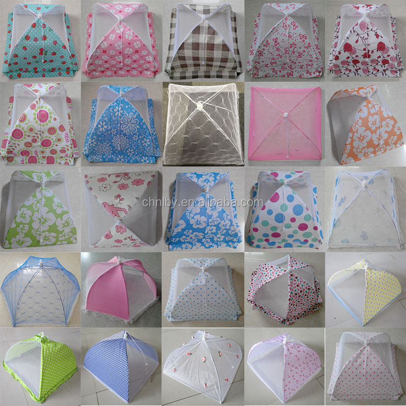 Hot Round Picnic Folding Flying net Mesh Table Tent Umbrella Food Cover