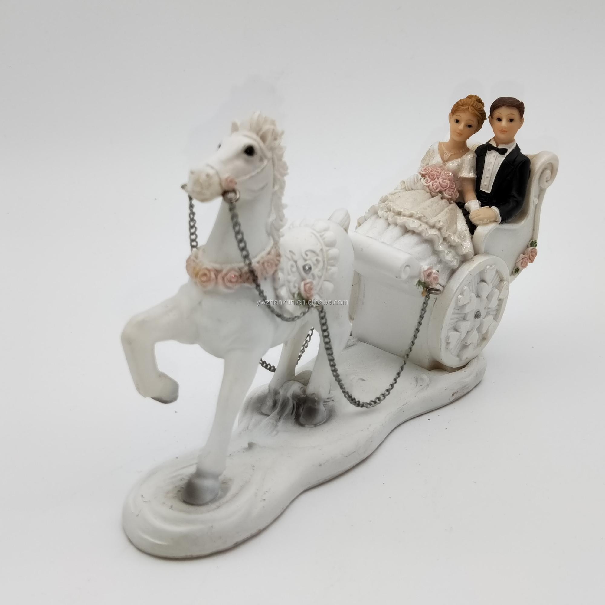 Polyresin Souvenir Casal, Enfeite de Casamento OEM