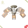 2017 Hot Sale Glass Home Decorative 5 Arms E14 Ceiling Lamp With Wrought Iron Crystal Lamp