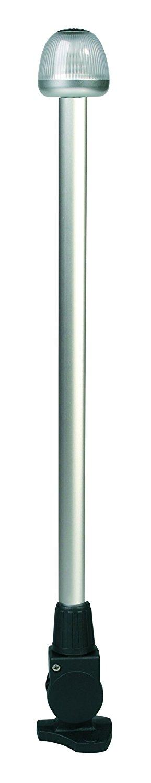 "HELLA 959910631 '9910' Series NaviLED 360 Multivolt White 9-33V DC 2 NM All-Round LED Light with Black 24"" Fold Down Pole Mount Base"