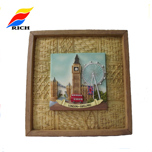 resin wall plate souvenir gifts for home decor