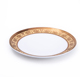 Fine Bone China luxury gold decal B&B coupe Plate round server