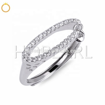 SSR246 Gorgeous Zircons Pearl Ring 925 Sterling Silver Wedding Ring Accessory Elegant Style Fine Jewelry Making