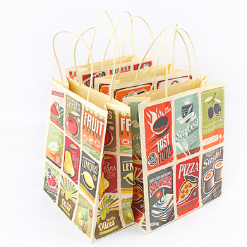 Hot stamping color cake food packaging paper bag wholesale
