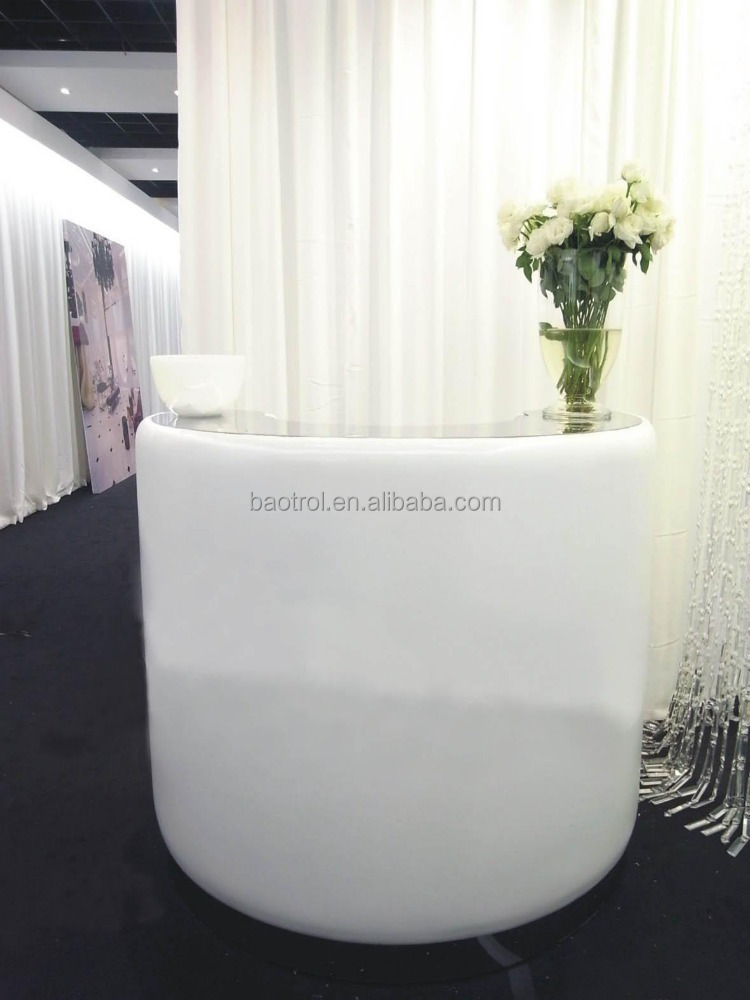 2017 The Small White Salon Reception Desk Counter Front Product On Alibaba