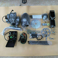 new 2 cycle electric starting 80cc bicycle engine kit with hand puller kit