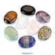 Natural Oval Worry Stones, Palm Pocket Stone, Healing Crystal Chakra Thumb Massage Stone