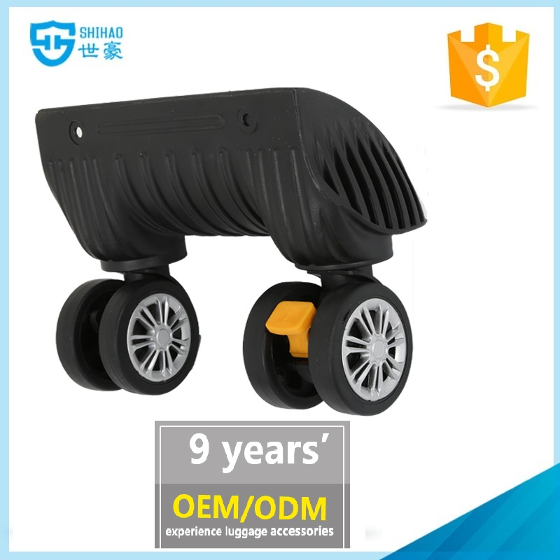 Custom eminent luggage trolley wheel with brake attachment luggage component