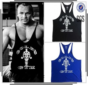 Deepcut Spaghetti Strap Top Custom Bodybuilding Gold Gym Clothing