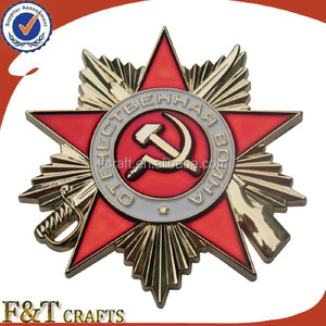 high quality custom russian souvenir honor award china military medal