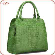 Fashion exotic real crocodile skin tote bag
