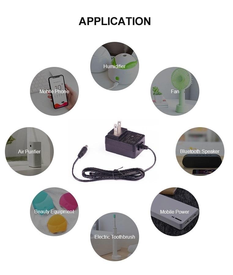 Ac dc adaptador de carregador de parede 12 v 2a adaptador de energia