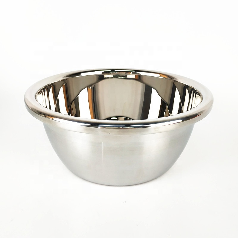 wholesale cheap price Stainless Steel Mirror polish Bowl Metal Mixing Bowls Set of 6 pieces