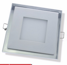 New ceiling products square glass led panel light 12w Led Light Panel Glass