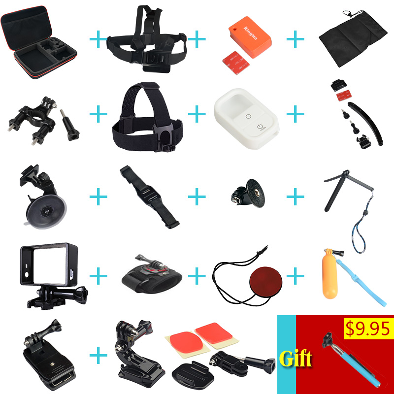 Full Gopro Accessories Mount Waterproof Case Chest Tripod Floaty Battery Pole