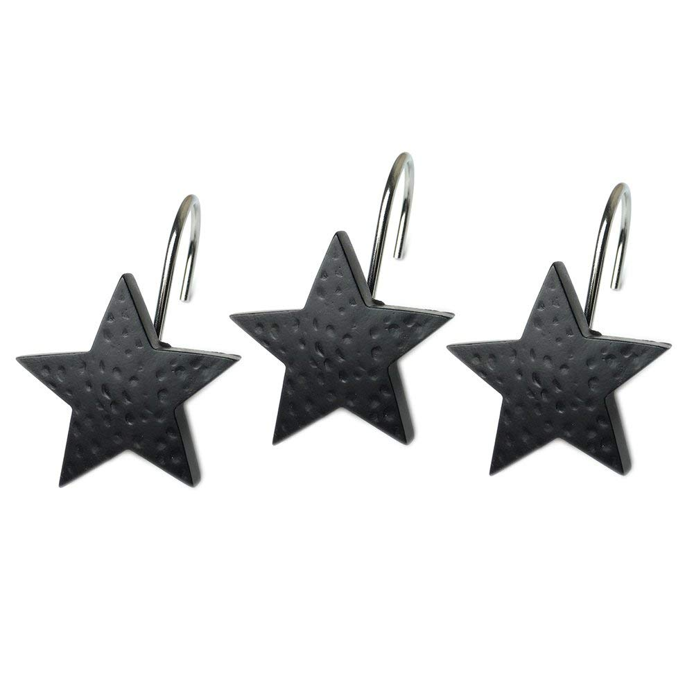Get Quotations Home Chic Yang HCY 12Pcs Creative Star Shower Curtain Hooks Bath Decorative For Bathroom