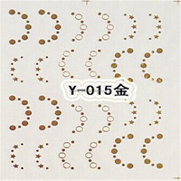 New Arrival Product On Promotion Golden Designs Water Transfer Nail Art stickers