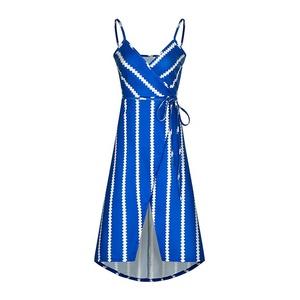 208101 shein reasonably priced popular fashion print striped irregular women's dress