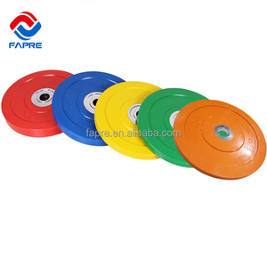 Gym Equipment All Rubber Bumper Weight Plate With smooth surface
