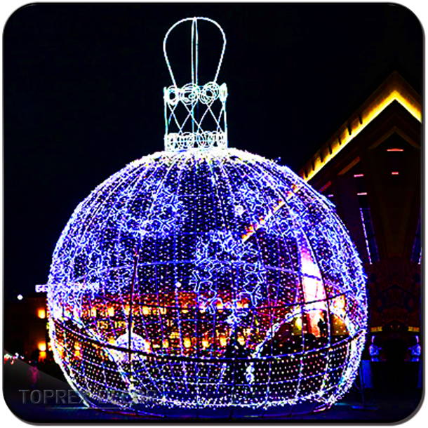LED waterproof large decorative outdoor ball light