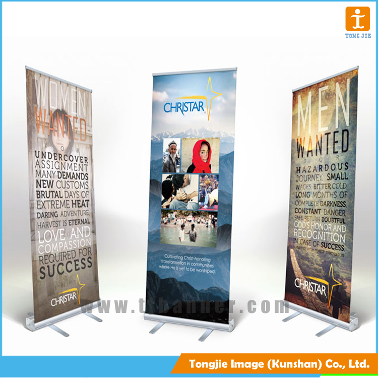 Flex aluminum roll up banner stand,retractable banner stand